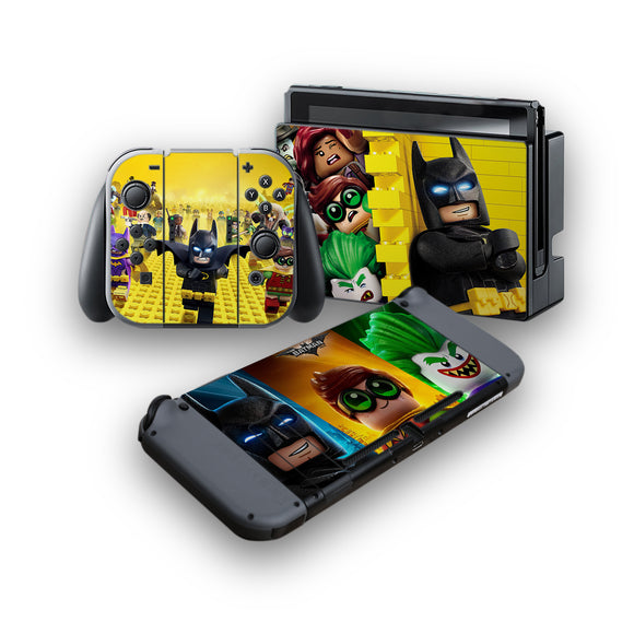 Lego Batman -Protective Vinyl Skin Decal Cover for Nintendo Switch Console & 2 Controllers