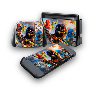 Lego Ninjago -Protective Vinyl Skin Decal Cover for Nintendo Switch Console & 2 Controllers