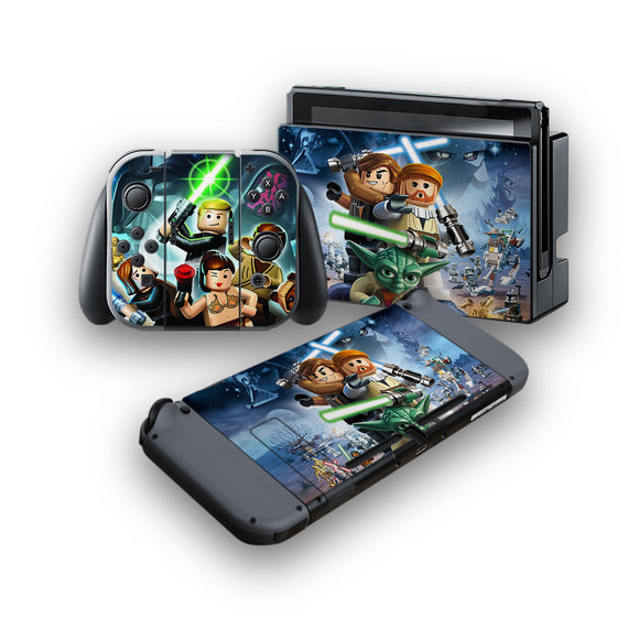 Lego Star Wars -Protective Vinyl Skin Decal Cover for Nintendo Switch Console & 2 Controllers