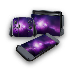 Nebula Galaxy -Protective Vinyl Skin Decal Cover for Nintendo Switch Console & 2 Controllers