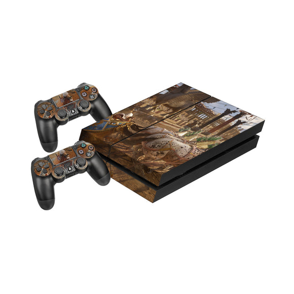 Assassins Creed Origins -Protective Vinyl Skin Decal Cover for PlayStation 4 Console & 2 Controllers