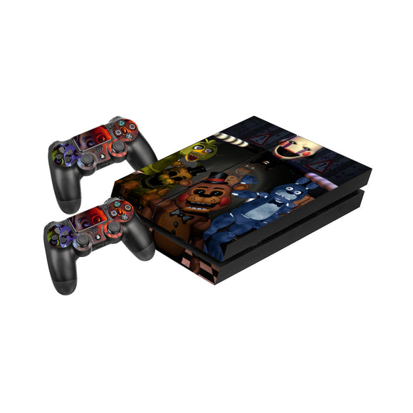 Five Nights at Freddys -Protective Vinyl Skin Decal Cover for PlayStation 4 Console & 2 Controllers