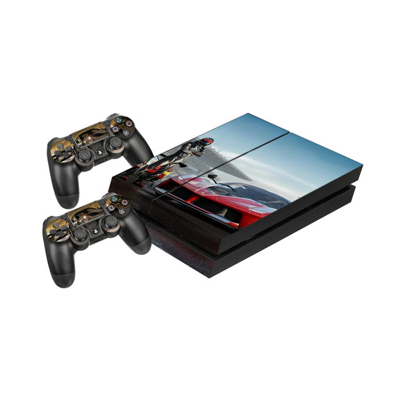 Forza 7 -Protective Vinyl Skin Decal Cover for PlayStation 4 Console & 2 Controllers
