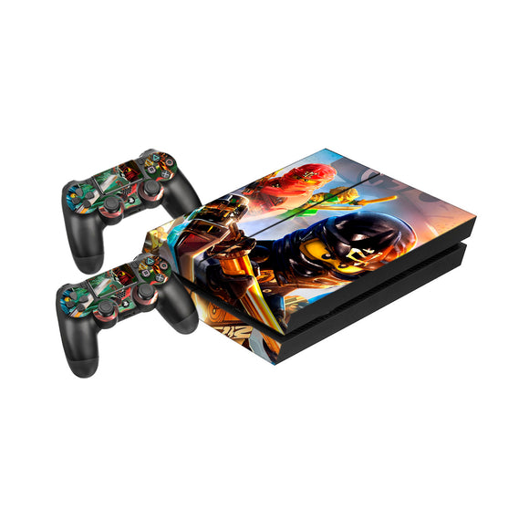 Lego Ninjago -Protective Vinyl Skin Decal Cover for PlayStation 4 Console & 2 Controllers