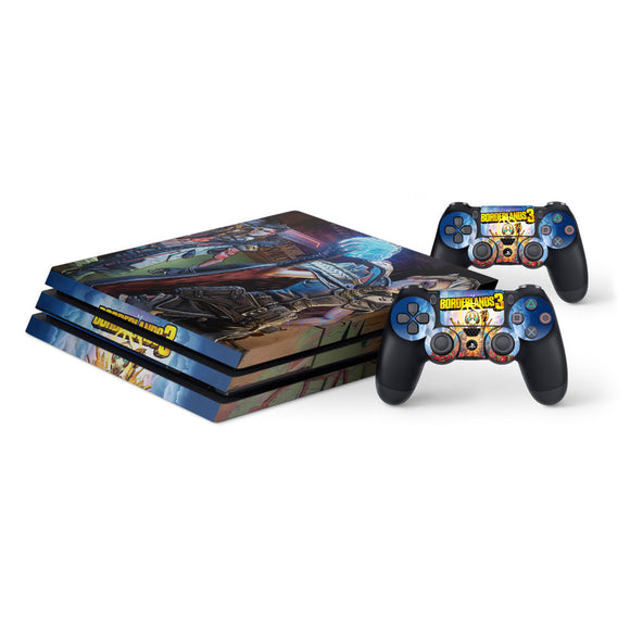 Borderlands 3 -Protective Vinyl Skin Decal Cover for PlayStation 4 Pro Console & 2 Controllers