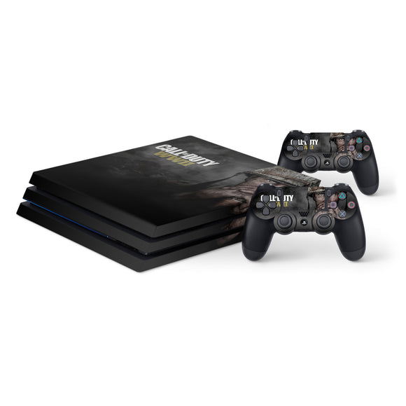 Call Of Duty WW2 -Protective Vinyl Skin Decal Cover for PlayStation 4 Pro Console & 2 Controllers