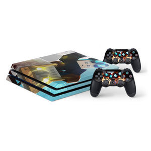 Dan TDM -Protective Vinyl Skin Decal Cover for PlayStation 4 Pro Console & 2 Controllers