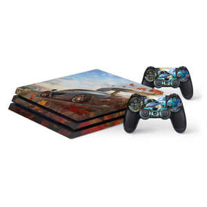 Forza Horizon 4 Protective Vinyl Skin Decal Cover for PlayStation 4 Pro Console & 2 Controllers