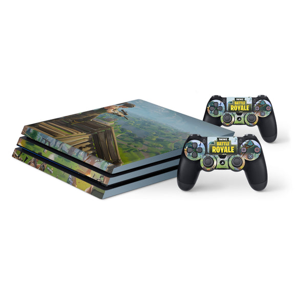 Fortnite -Protective Vinyl Skin Decal Cover for PlayStation 4 Pro Console & 2 Controllers 001