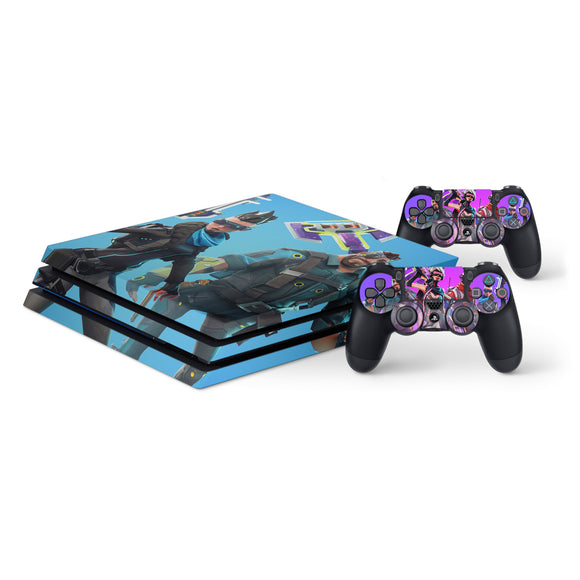 Fortnite Protective Vinyl Skin Decal Cover for PlayStation 4 Pro Console & 2 Controllers 006