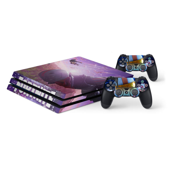 Fortnite Protective Vinyl Skin Decal Cover for PS4 Pro Console & 2 Controllers 007