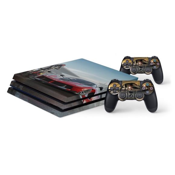 Forza 7 -Protective Vinyl Skin Decal Cover for PlayStation 4 Pro Console & 2 Controllers