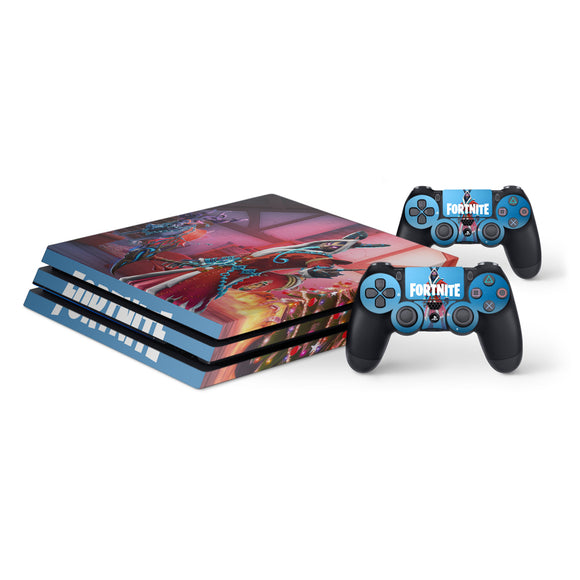 Fortnite -Protective Vinyl Skin Decal Cover for PlayStation 4 Pro Console & 2 Controllers Krampus