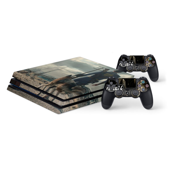 Fallout 4 -Protective Vinyl Skin Decal Cover for PlayStation 4 Pro Console & 2 Controllers