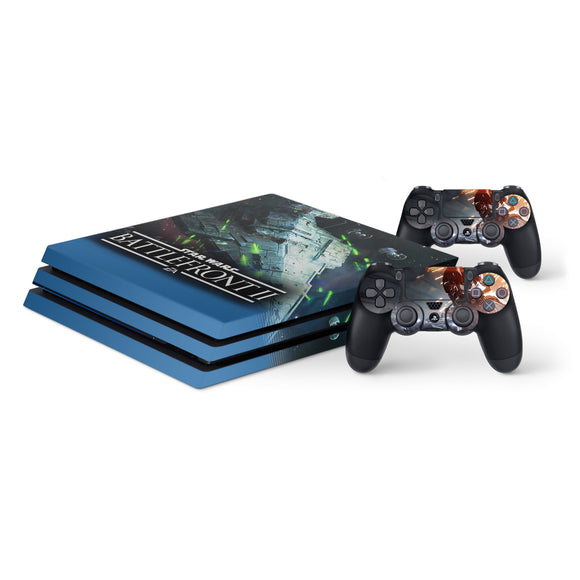 Star Wars Battlefront 2 -Protective Vinyl Skin Decal Cover for PlayStation 4 Pro Console & 2 Controllers