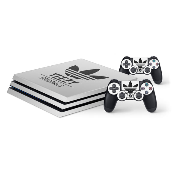 Adidas Yeezy -Protective Vinyl Skin Decal Cover for PlayStation 4 Pro Console & 2 Controllers