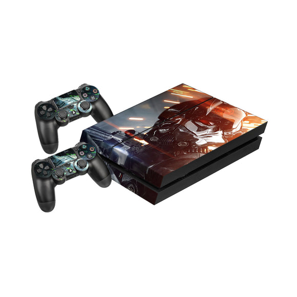 Star Wars Battlefront 2 -Protective Vinyl Skin Decal Cover for PlayStation 4 Console & 2 Controllers