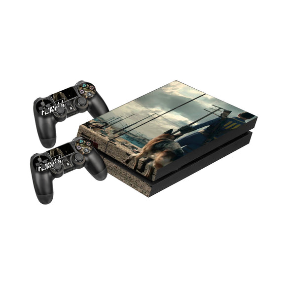 Fallout 4 -Protective Vinyl Skin Decal Cover for PlayStation 4 Console & 2 Controllers