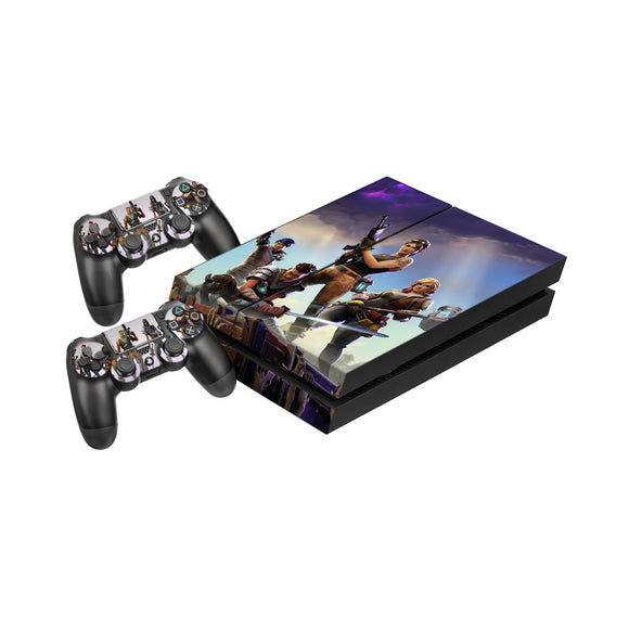 Fortnite -Protective Vinyl Skin Decal Cover for PlayStation 4 Console & 2 Controllers