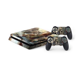 Assassin's Creed Odyssey - Protective Vinyl Skin Decal Cover for PlayStation 4 Slim Console & 2 Controllers