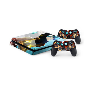 Dan TDM -Protective Vinyl Skin Decal Cover for PlayStation 4 Slim Console & 2 Controllers