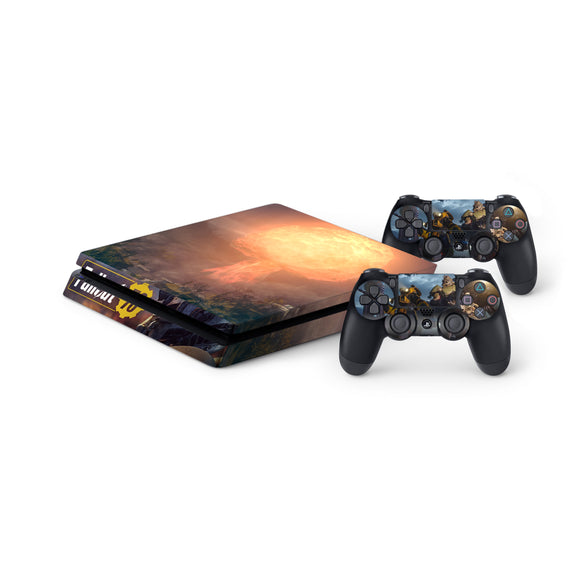 Fallout 76 Protective Vinyl Skin Decal Cover for PlayStation 4 Slim Console & 2 Controllers