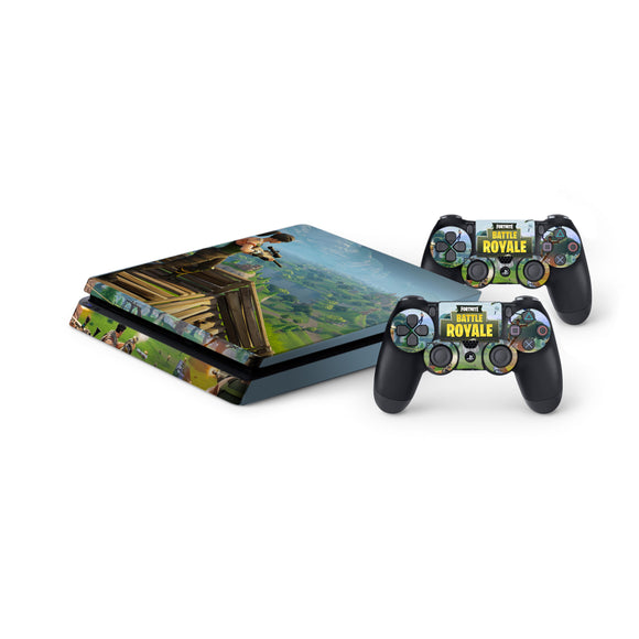 Fortnite -Protective Vinyl Skin Decal Cover for PlayStation 4 Slim Console & 2 Controllers 001