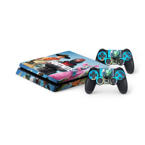 Fortnite -Protective Vinyl Skin Decal Cover for PlayStation 4 Slim Console & 2 Controllers 002