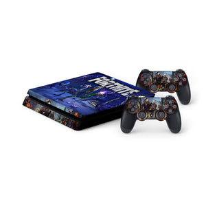 Fortnite -Protective Vinyl Skin Decal Cover for PlayStation 4 Slim Console & 2 Controllers 005
