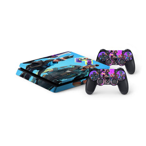 Fortnite -Protective Vinyl Skin Decal Cover for PlayStation 4 Slim Console & 2 Controllers 006