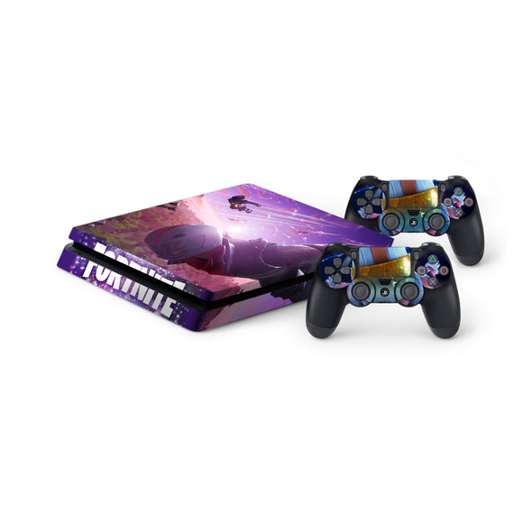 Fortnite -Protective Vinyl Skin Decal Cover for PlayStation 4 Slim Console & 2 Controllers 007