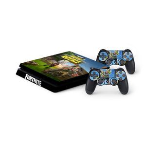 Fortnite -Protective Vinyl Skin Decal Cover for PlayStation 4 Slim Console & 2 Controllers 008