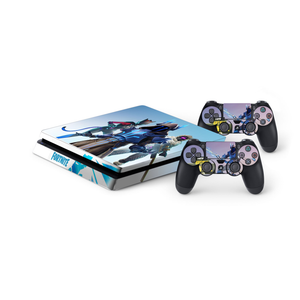 Fortnite Season 7 Protective Vinyl Skin Decal Cover for PlayStation 4 Slim Console & 2 Controllers