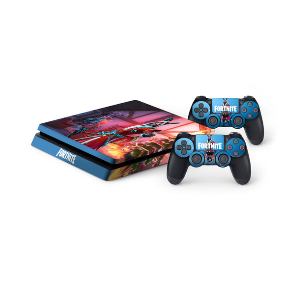 Fortnite -Protective Vinyl Skin Decal Cover for PlayStation 4 Slim Console & 2 Controllers Krampus