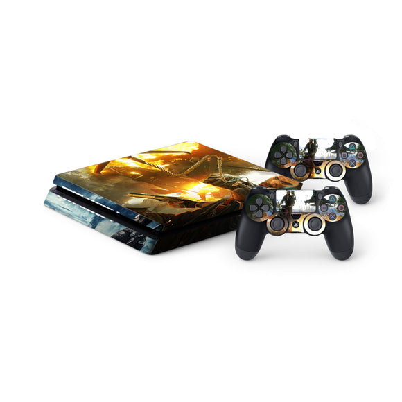 Just Cause 4 Protective Vinyl Skin Decal Cover for PlayStation 4 Slim Console & 2 Controllers