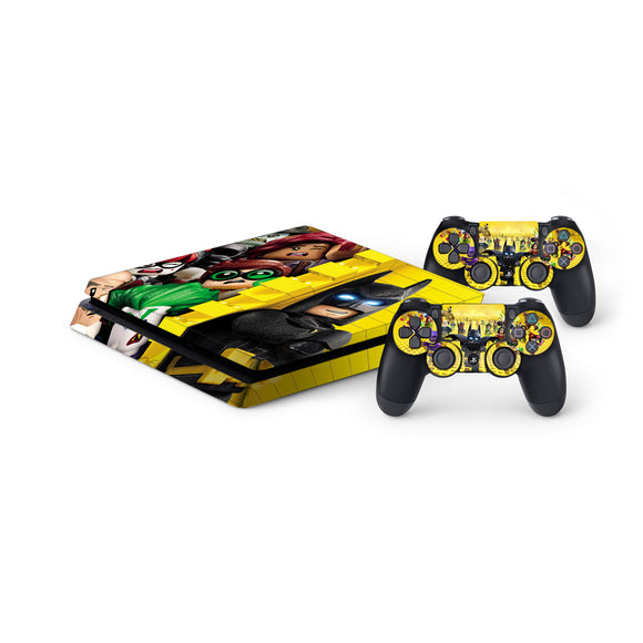 Lego Batman -Protective Vinyl Skin Decal Cover for PlayStation 4 Slim Console & 2 Controllers
