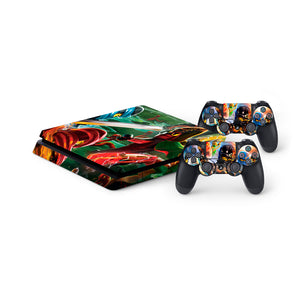 Lego Ninjago -Protective Vinyl Skin Decal Cover for PlayStation 4 Slim Console & 2 Controllers