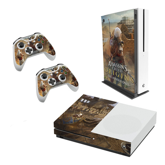 Assassins Creed -Decal Style Skin Set fits XBOX One S Console and 2 Controllers