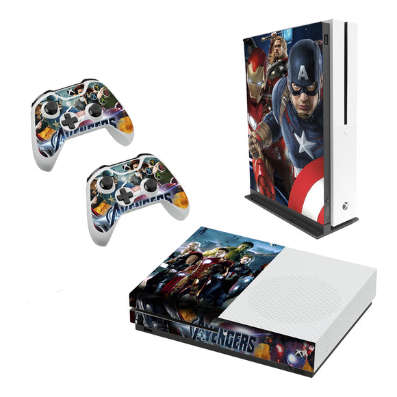 Avengers -Decal Style Skin Set fits XBOX One S Console and 2 Controllers
