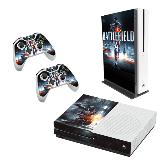Battlefield 4 -Decal Style Skin Set fits XBOX One S Console and 2 Controllers