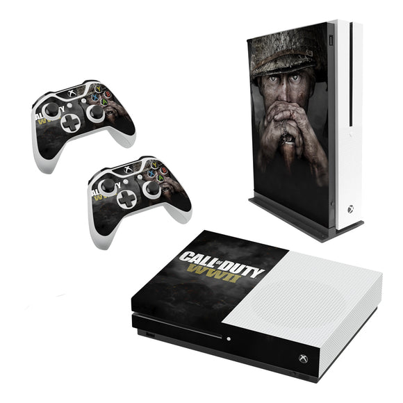 Call Of Duty WW2 -Decal Style Skin Set fits XBOX One S Console and 2 Controllers