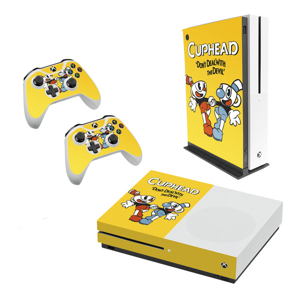 Cuphead -Decal Style Skin Set fits XBOX One S Console and 2 Controllers