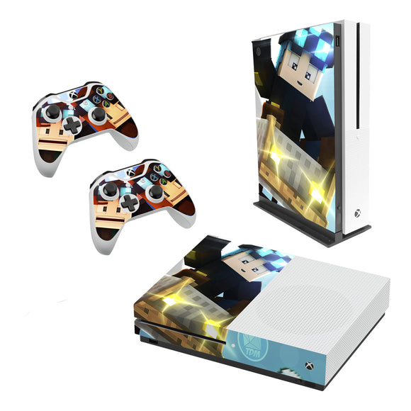 Dan TDM -Decal Style Skin Set fits XBOX One S Console and 2 Controllers