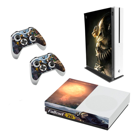 Fallout 76 Decal Style Skin Set fits XBOX One S Console and 2 Controllers