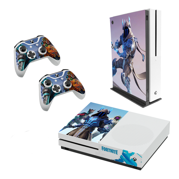 Fortnite Season 7 Decal Style Skin Set fits XBOX One S Console and 2 Controllers