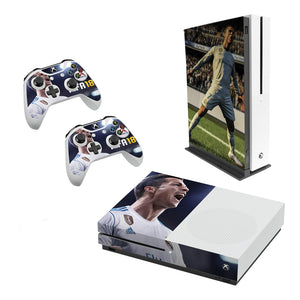 Fifa 18 -Decal Style Skin Set fits XBOX One S Console and 2 Controllers