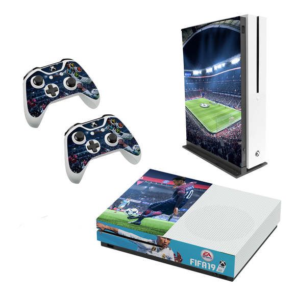 FIFA 19 Decal Style Skin Set fits XBOX One S Console and 2 Controllers