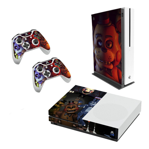 Five Nights At Freddys -Decal Style Skin Set fits XBOX One S Console and 2 Controllers