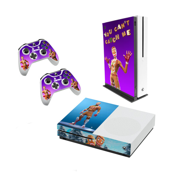 Fortnite -Decal Style Skin Set fits XBOX One S Console and 2 Controllers Gingerbread