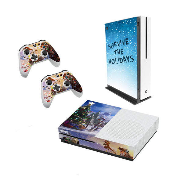 Fortnite -Decal Style Skin Set fits XBOX One S Console and 2 Controllers General